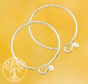Ear Hook Circle Sterlingsilver 925 19mm