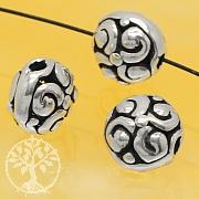 Silber Perle Spirale Sterling Silber 925 8x6mm