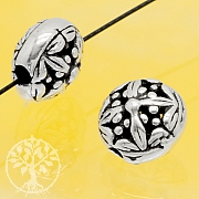 Silberperle Blume Sterling Silber 925 8x6mm