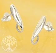 Ear Stud Sterling Silver 925 15mm