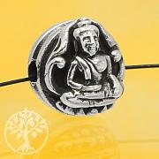 Silberperle Buddha Perle Sterling Silber 925 10mm
