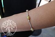 Honig Opal Armband Sterling Silber 925 19cm