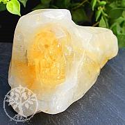 Citrin Steinschädel  Skull Edelstein 48*77*47mm
