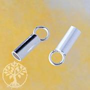 Crimp end cap 925 Silver 2.8 mm