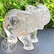 Elefant Kristall Edelstein 74*47*103mm
