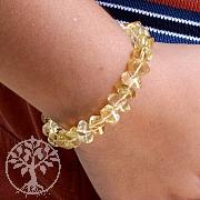 Citrin Armband facettiert Zitrin Pperlen Edelsteinarmband