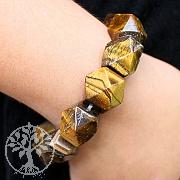 Tigerauge Stein Armband Nugget Armband 15mm