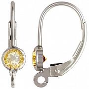 Klappbrisur Silber 925 mit facettiertem Citrin andere Teile anhängen möglich
