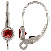 Klappbrisur Silber 925 mit facettiertem Granat andere Ohrringteile anhängen möglich