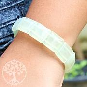 China Jade Armband Quadratische Edelsteinperlen 15x15x6.5mm