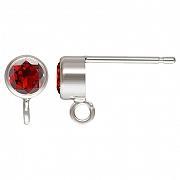 Ohrstecker Silber 925 mit facettiertem Granat andere Ohrring Teile anhängbar