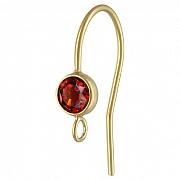 Ohrhaken Gold mit facettiertem Granat, Goldfilled 14K 1/20, andere Ohrring Teile anhängbar