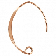 Rose Gold Ohrhaken V Flach 25x17mm Rose Gold Filled 14K 1/20