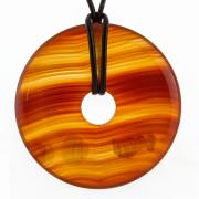 Carnelian High Quality Stone Pendant Donut Shape  40mm
