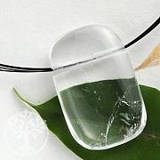 Crystal Quartz Pendant Rectangled 30x20mm
