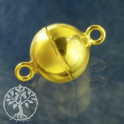 Magnetic Clasp Gold-plated Ball 8mm