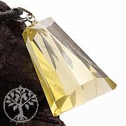 Zitronenquarz Lemonquarz / Lemonzitrin Dreieck Triangle Facttierter Anhänger Silber 925