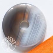 Achat Natur Edelstein 30mm Donut A-Qualität Achatanhänger Scheibe