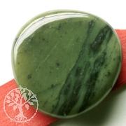 Jade / Nephrit Jade Flat stone 30 / 45mm * 10mm