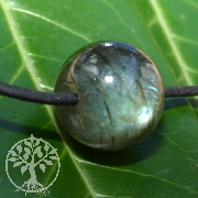 Labradorite Ball Pendant 15mm Hole 2.5mm