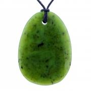 Jade weicher Nephrit großer Stein 68X47mm