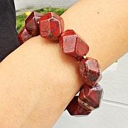 Roter Jaspis Armband Nugget