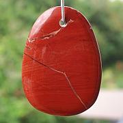Roter Jaspis Edelstein Anhänger riesen Stein Anhänger XXL 70x50mm