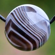 Botswana Achat Kugel mit Loch 15mm