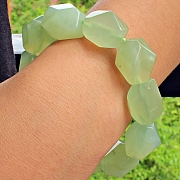 China Jade facettierten Edelstein Armband Nugget