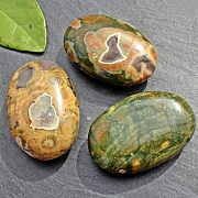 Rhyolite flat stone calibrated oval 45X30mm