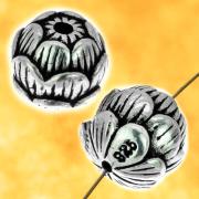 Lotus Silber Perlen Sterling Silber 925 7 mm.