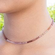 Spinell Halskette multicolor 45cm facettierte Spinell Perlen 3mm