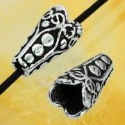 Silberperle Kegel Ornament Ägypten 12 mm