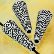 Silber Perle Kegel Antike griechisches Muster big 25 mm