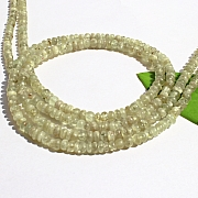 Chrysoberyl Stone Necklace 45cm Chrysoberyl Button Beads 3-4mm