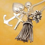 Silberperle Charm Sterling Silber 925 22mm