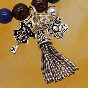 Silver Bead charm Sterling Silver 925 24mm