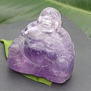 Amethyst Buddha 001 65x65x40mm Edelstein Budda