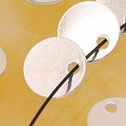 Silber Anhänger Tag für Firmenstempel etc. poliert Sterling Silber 925 8mm