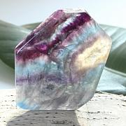 Edelsteinscheibe Fluorit Regenbogen Nr. F2 60x50x7mm