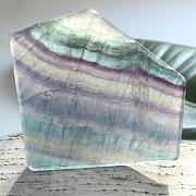 Edelsteinscheibe  Fluorit Regenbogen Nr. F3 75x70x8mm