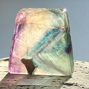 Edelsteinscheibe  Fluorit Regenbogen Nr. F7  37x35x10mm