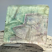 Edelsteinscheibe  Fluorit Regenbogen Nr. F9  50x45x5mm