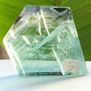 Edelsteinscheibe Fluorit Regenbogen Nr.5 45x50x10mm