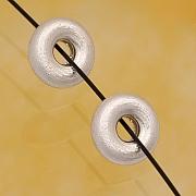 Silberkornperle gebürstet Sterlingsilber 925 6mm Reifen Perle