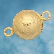 Magnetkugelschließe vergoldet gebürstet 10mm