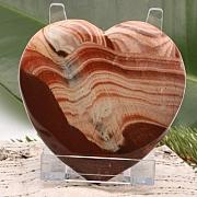 Extra großes Herz Handschmeichler Roter Jaspis 002 80x80x18mm