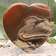 einmaliges Herz Handschmeichler Roter Jaspis flach 005 100x96x10mm