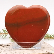 Unique heart flattering red jasper flat 006 80x80x10mm