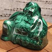 Buddha sitzend Buddy Malachit 40x45x30mm Edelstein Budda